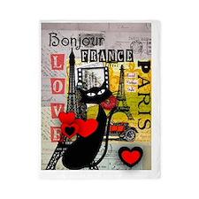 france cat cell case Twin Duvet