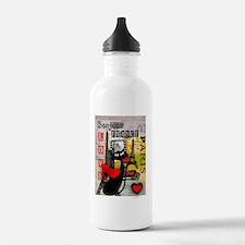 france cat cell case Water Bottle