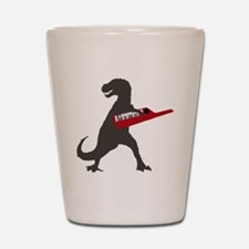 T-Rex Playing the Keytar Shot Glass