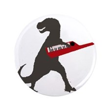 "T-Rex Playing the Keytar 3.5"" Button"