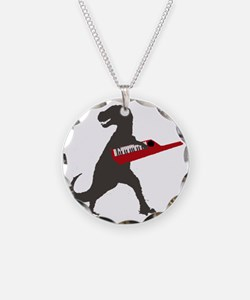 T-Rex Playing the Keytar Necklace