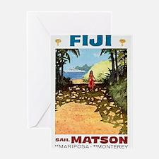 Fiji sail matson Greeting Card