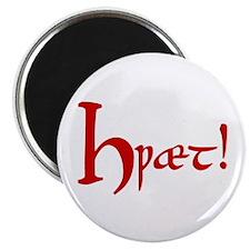 "Hwaet! (Red) 2.25"" Magnet (10 pack)"