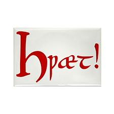 Hwaet! (Red) Rectangle Magnet (100 pack)