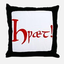 Hwaet! (Red) Throw Pillow