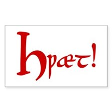 Hwaet! (Red) Sticker (Rectangular)