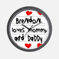 Brendon Loves Mommy and Daddy Wall Clock