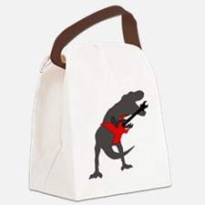 T-rex Playing the Guitar Canvas Lunch Bag