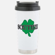 """Southie"" South Boston, Stainless Steel Travel Mug"