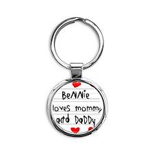 Bennie Loves Mommy and Daddy Round Keychain