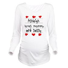 Ashleigh Loves Mommy Long Sleeve Maternity T-Shirt
