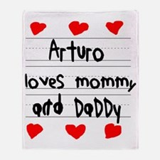 Arturo Loves Mommy and Daddy Throw Blanket