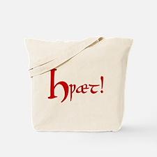 Hwaet! (Red) Tote Bag