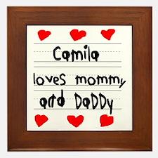Camila Loves Mommy and Daddy Framed Tile