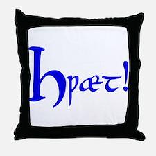 Hwaet! (Blue) Throw Pillow
