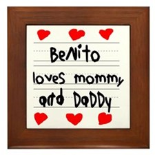 Benito Loves Mommy and Daddy Framed Tile