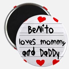 Benito Loves Mommy and Daddy Magnet