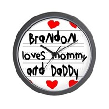 Brandon Loves Mommy and Daddy Wall Clock