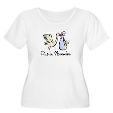 Due In November Stork T-Shirt
