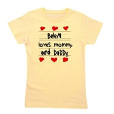 Belen Loves Mommy and Daddy Girl's Tee