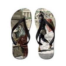 Death of Archimedes in sack of Syracuse Flip Flops
