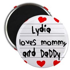 Lydia Loves Mommy and Daddy Magnet