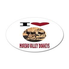 Love Moreno Valley Donkeys Wall Decal