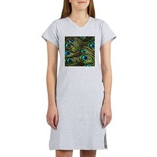 Peacock Feathers Women's Nightshirt