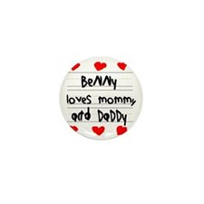 Benny Loves Mommy and Daddy Mini Button