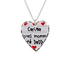 Carina Loves Mommy and Daddy Necklace
