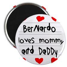 Bernardo Loves Mommy and Daddy Magnet