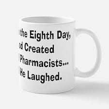 Retail pharmacists god created Small Mugs