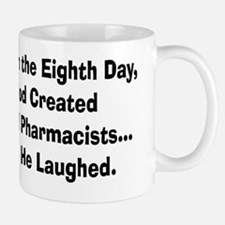Retail pharmacists god created Small Small Mug