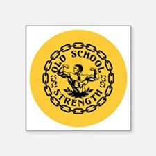 "Old School Strength Vintage Square Sticker 3"" x 3"""