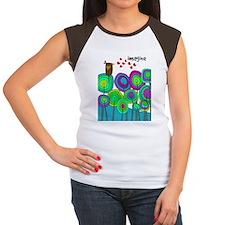 imagine cell case blue Women's Cap Sleeve T-Shirt