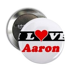 I Love Aaron Button