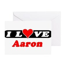 I Love Aaron Greeting Cards (Pk of 10)