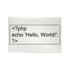 PHP Hello World! Rectangle Magnet