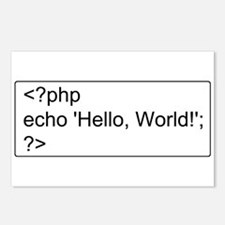 PHP Hello World! Postcards (Package of 8)