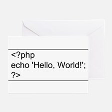 PHP Hello World! Greeting Cards (Pk of 10)
