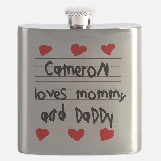 Cameron Loves Mommy and Daddy Flask