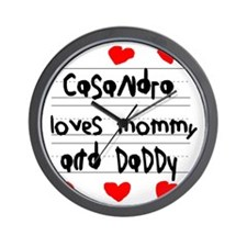 Casandra Loves Mommy and Daddy Wall Clock