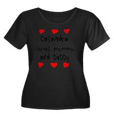 Casandra Women's Plus Size Dark Scoop Neck T-Shirt