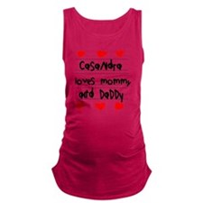 Casandra Loves Mommy and Daddy Maternity Tank Top