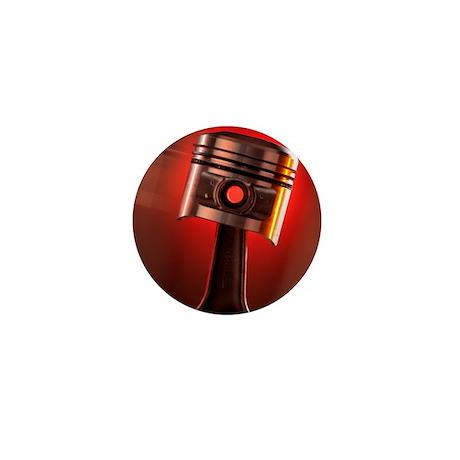 Car engine piston Mini Button