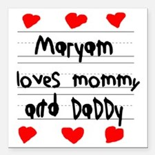 """Maryam Loves Mommy and D Square Car Magnet 3"""" x 3"""""""