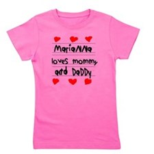 Marianna Loves Mommy and Daddy Girl's Tee
