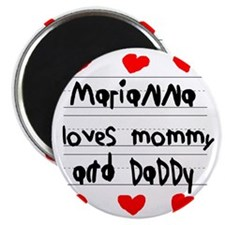 Marianna Loves Mommy and Daddy Magnet