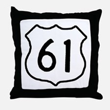 Highway 61 Throw Pillow