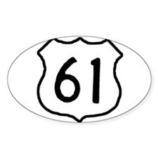 Highway 61 Oval Decal